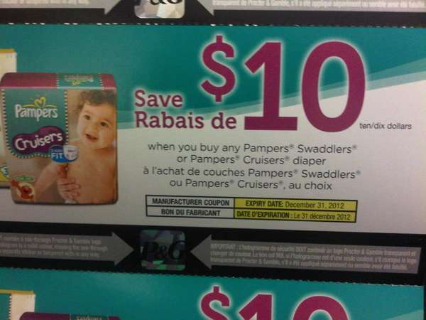 Pampers coupons canada