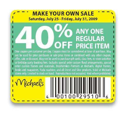 coupons for michaels craft store talladega nights phrases 2009 6085