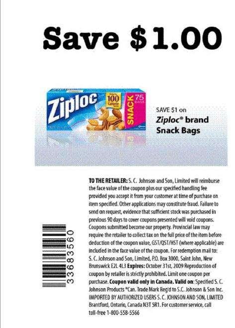 New Ziploc Coupons Page 2
