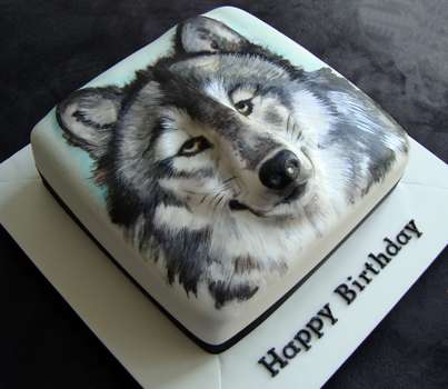 How To Make A Wolf Head Cake