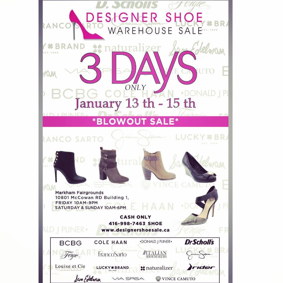 designer shoe warehouse sale in markham jan 13 15. Black Bedroom Furniture Sets. Home Design Ideas