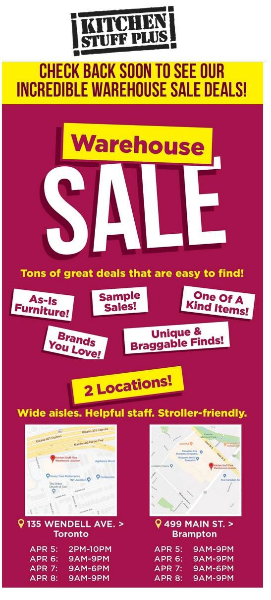 Name:  Kitchen Stuff Plus Warehouse Sale.jpg Views: 280 Size:  201.5 KB