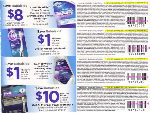 Crest 3d white intensive professional effects whitestrips printable coupon
