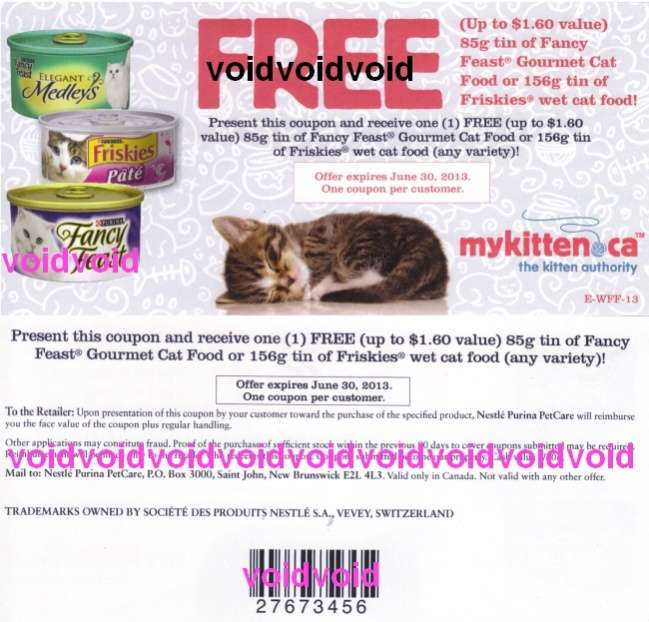 Purina One Cat Food Coupons Canada