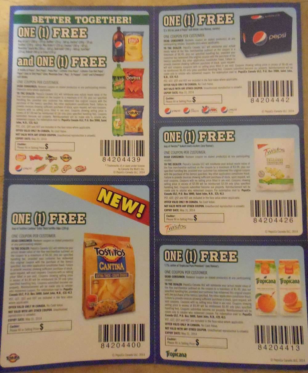 Pepsi/Tostitos $20.00 Coupon Booklet